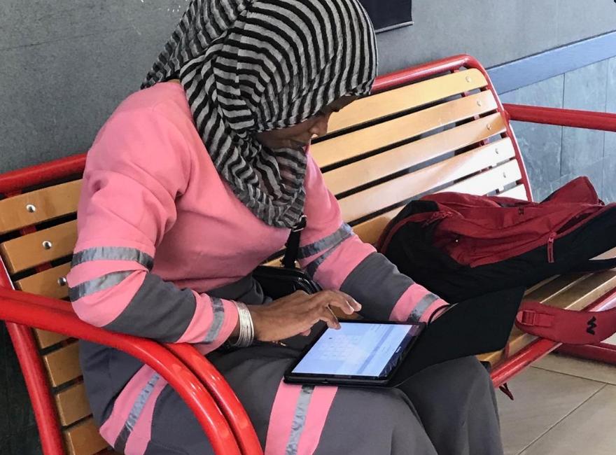 Tablets for refugees